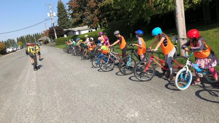 Cycliste averti pour les élèves de 5e année